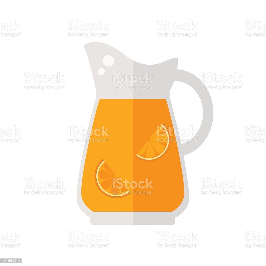 Juice jug icon. vector art illustration