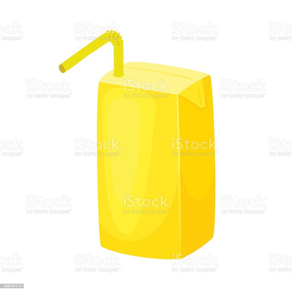 Juice package blank vector art illustration