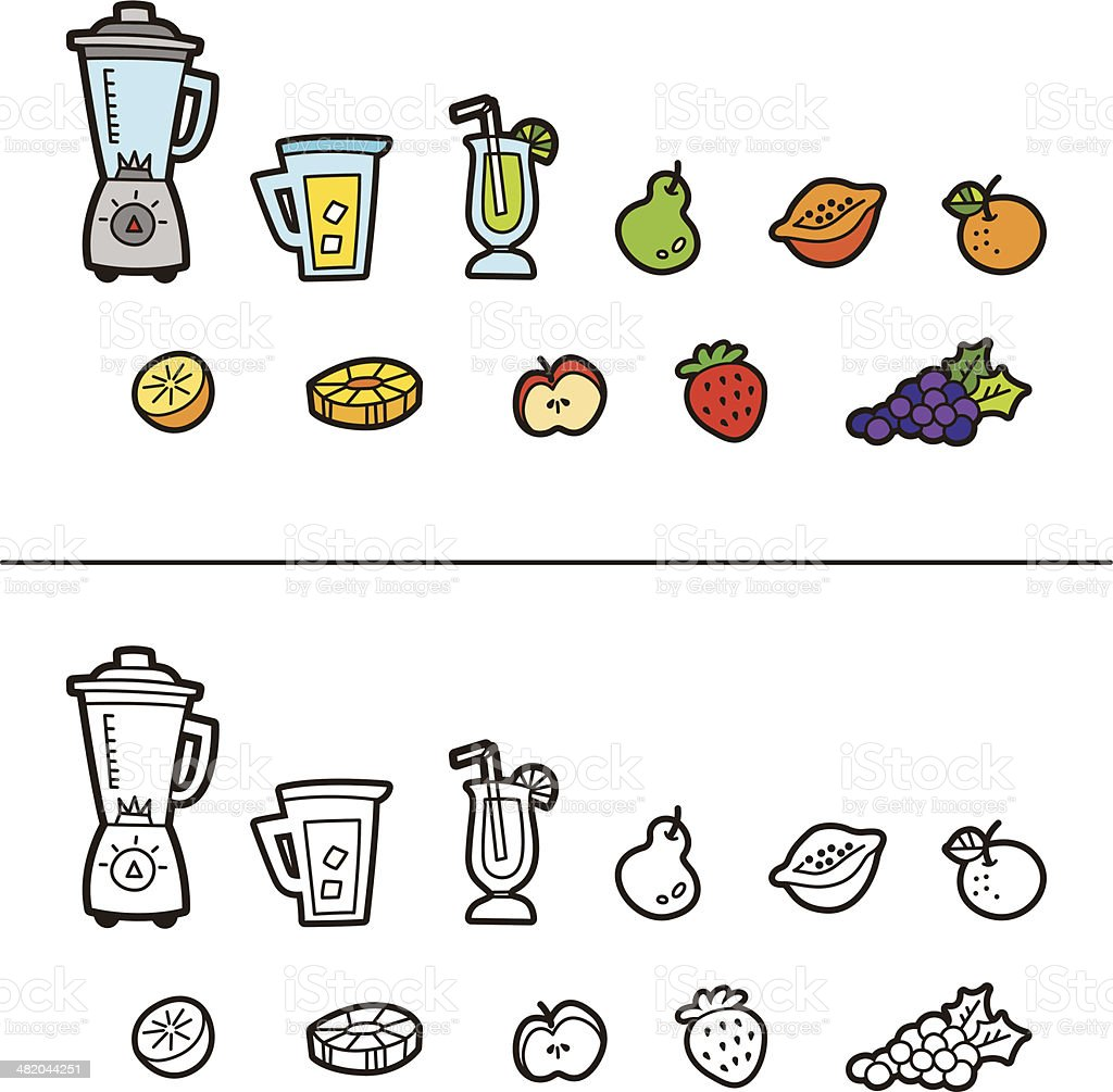 Juice Time icon royalty-free stock vector art