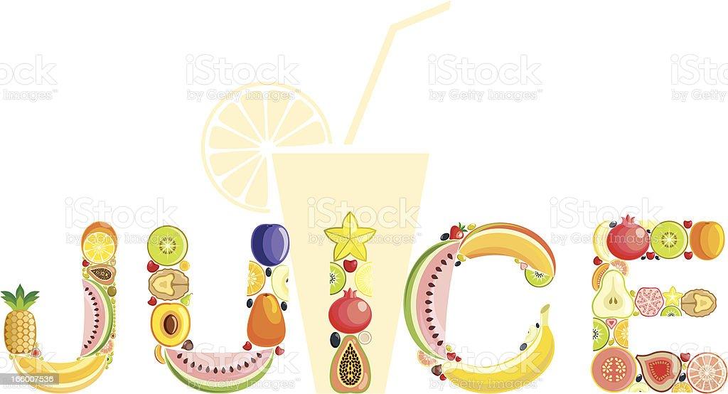 Juice vector art illustration