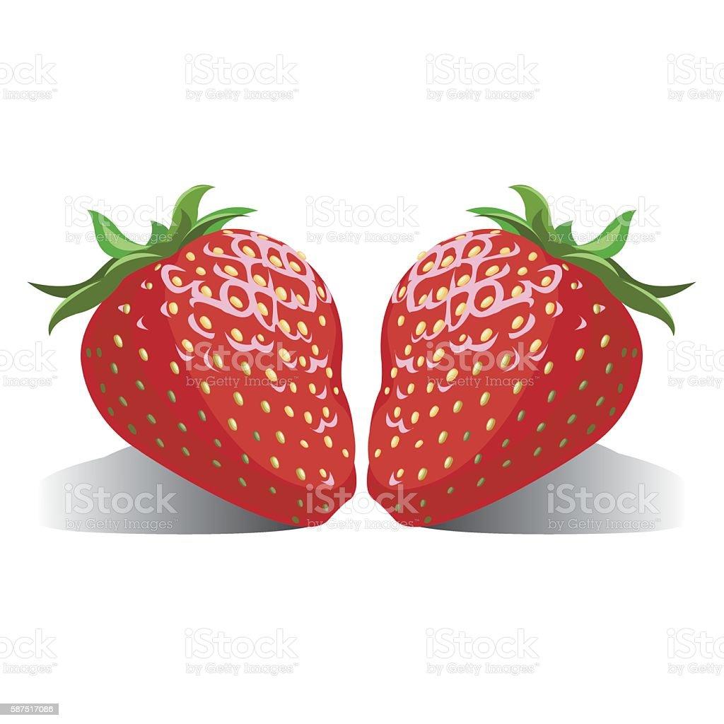 juicy berries Strawberries royalty-free stock vector art