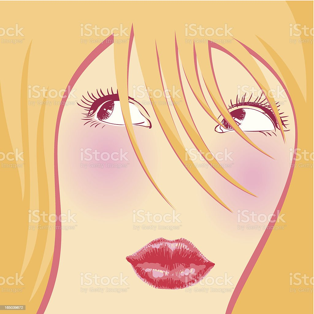Juicy Glance vector art illustration