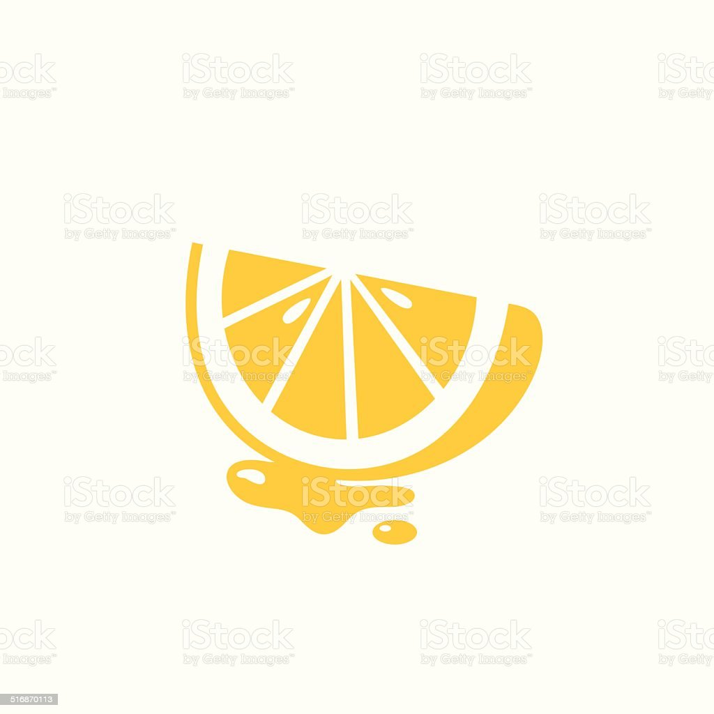 Juicy lemon icon vector art illustration