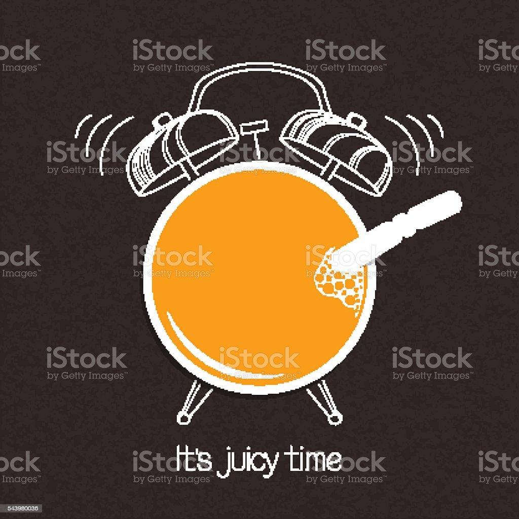 Juicy time vector art illustration