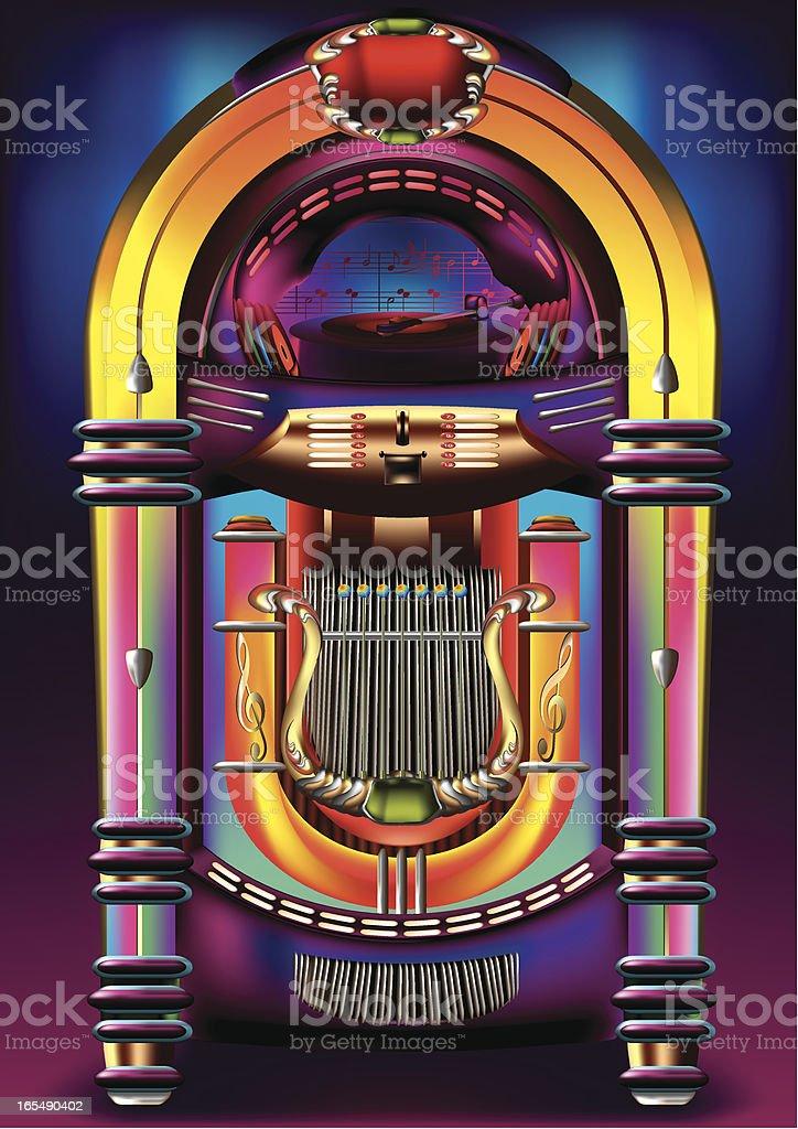 Jukebox royalty-free stock vector art