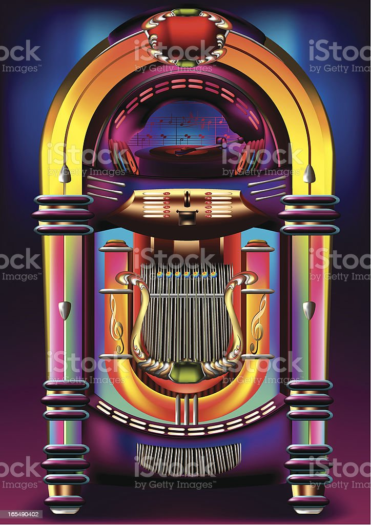 Jukebox vector art illustration