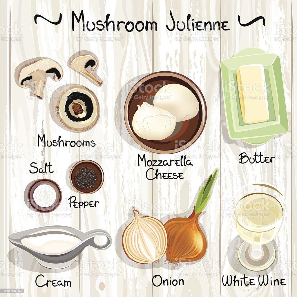 Julienne vector art illustration