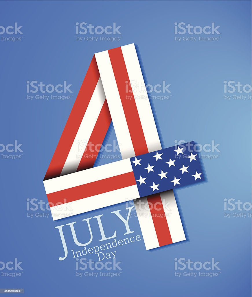 4 juillet stock vecteur libres de droits libre de droits