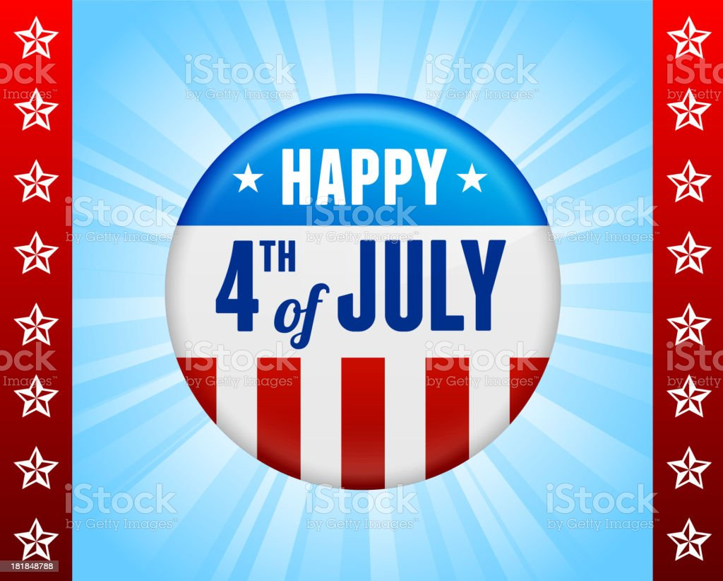 July 4th Background with badge royalty-free stock vector art