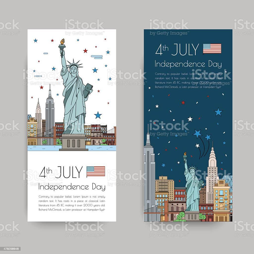 July 4th celebration vector art illustration