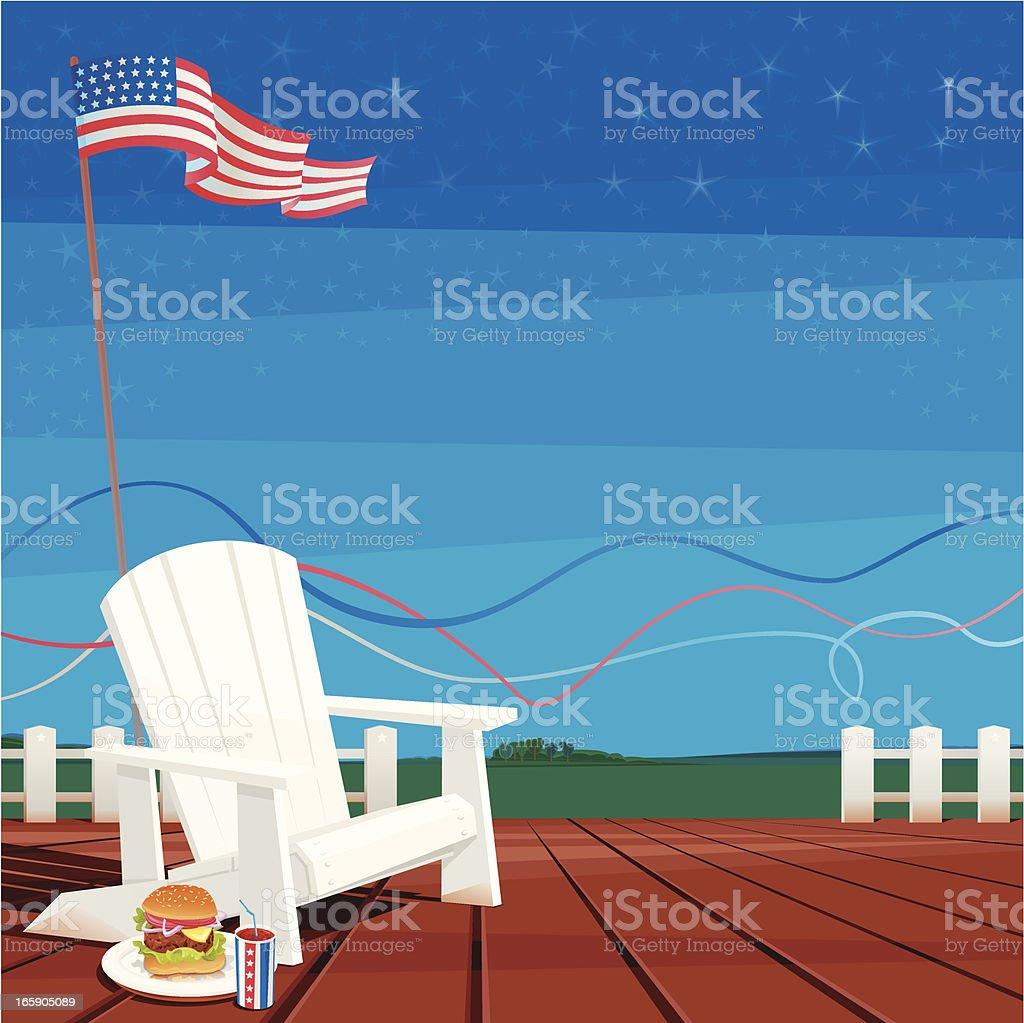 July 4th (USA Celebration Background) vector art illustration