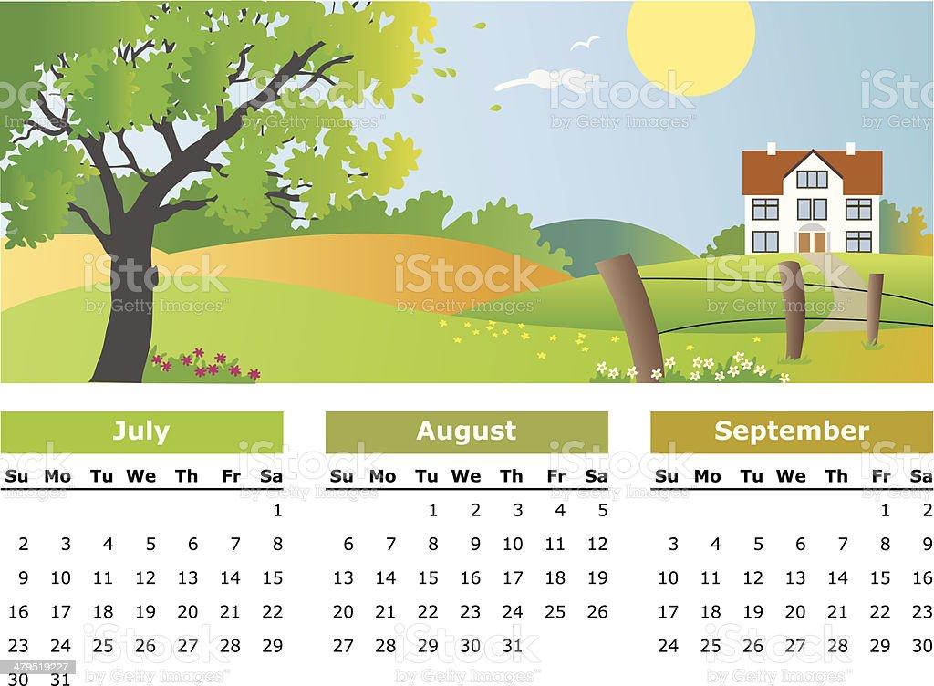 July, august, september - 2006 royalty-free stock vector art