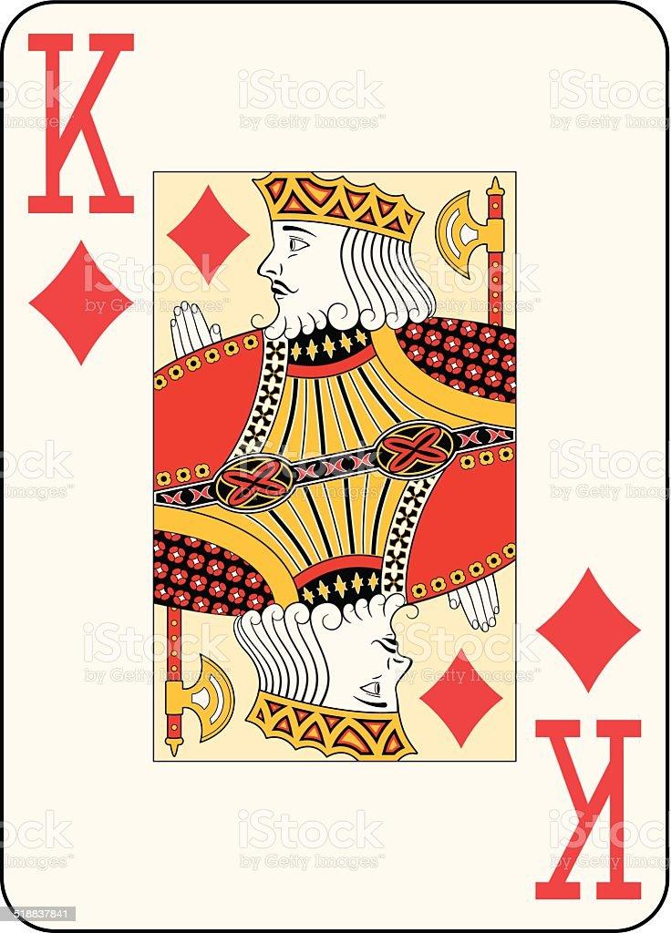 Jumbo index king of diamonds vector art illustration