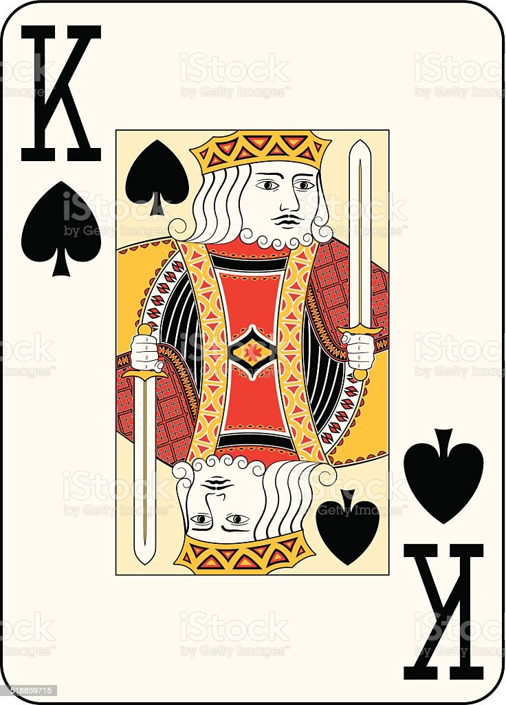 Jumbo index king of spades vector art illustration