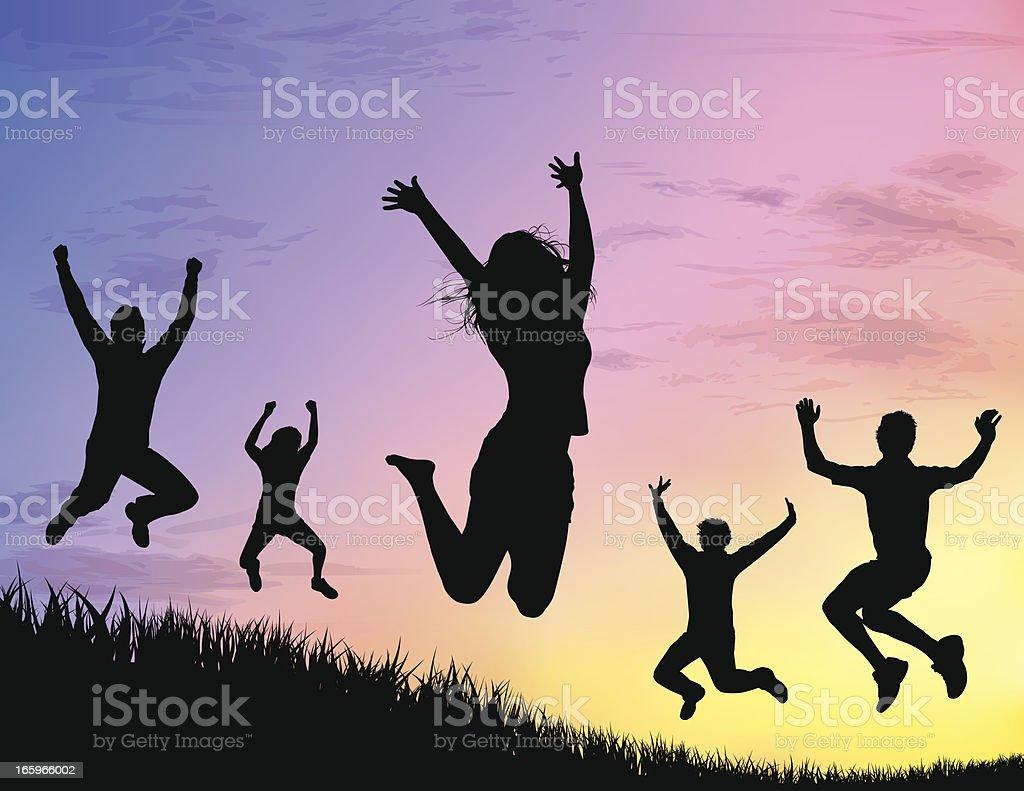 Jump for Joy royalty-free stock vector art