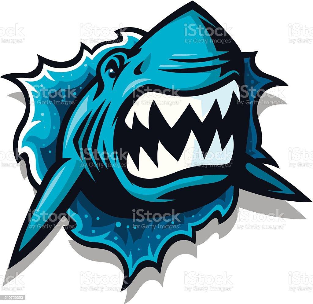 Jump the Shark vector art illustration