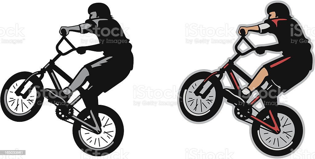 BMX Jump royalty-free stock vector art