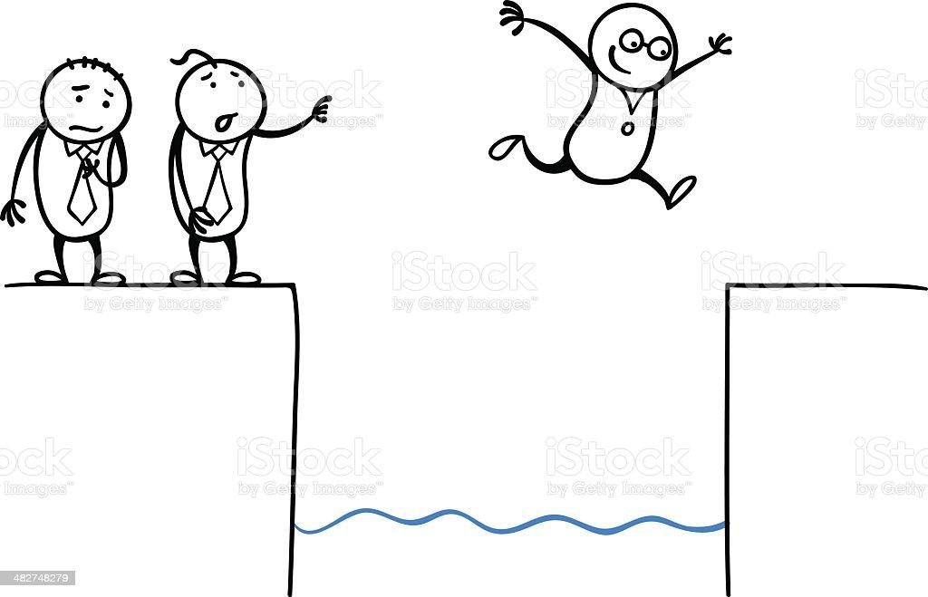 Jump! royalty-free stock vector art