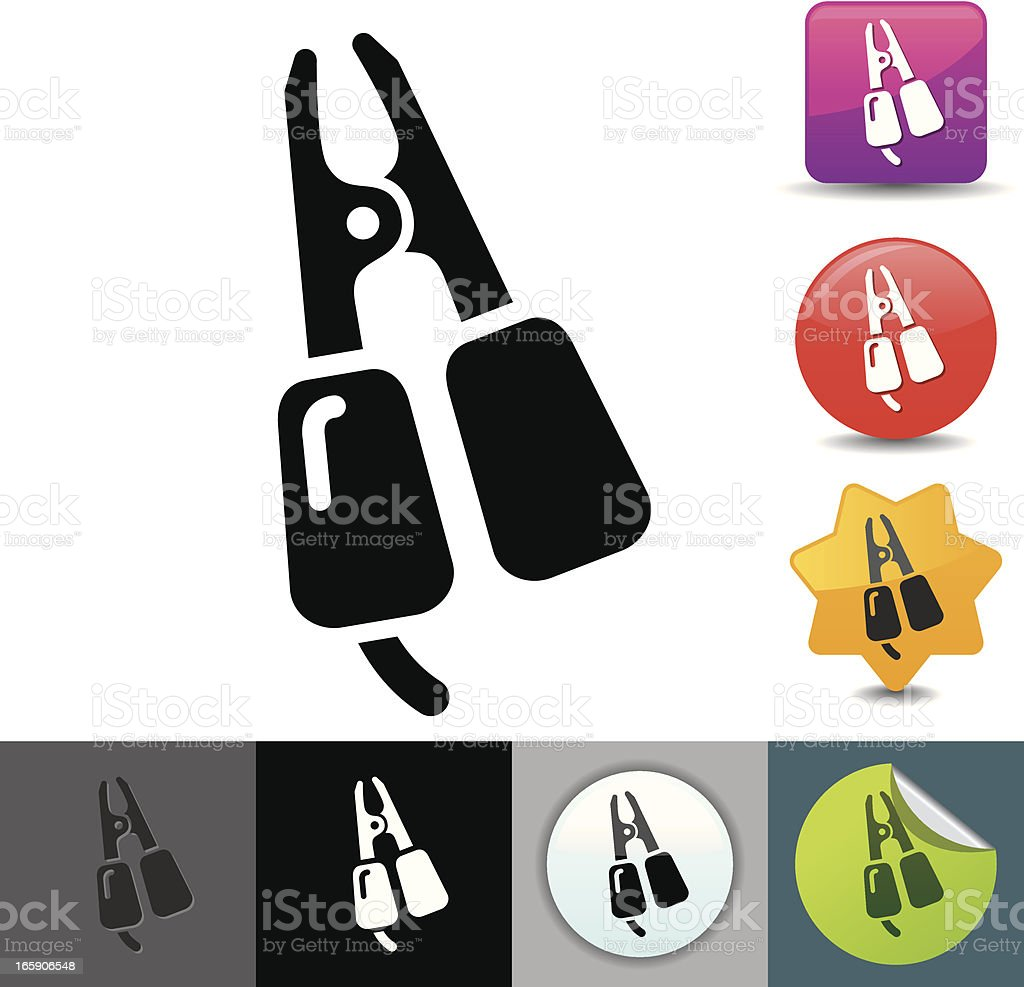 Jumper cable icon | solicosi series royalty-free stock vector art