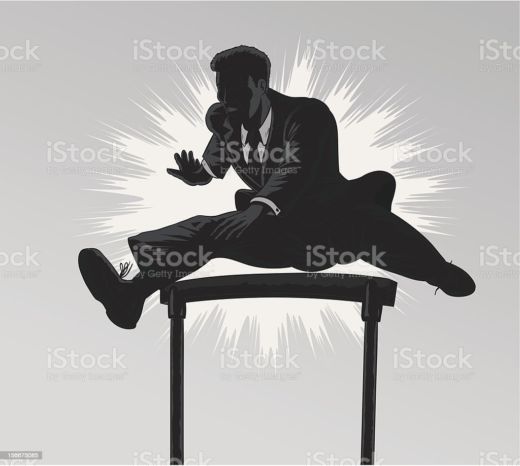 Jumping businessman royalty-free stock vector art