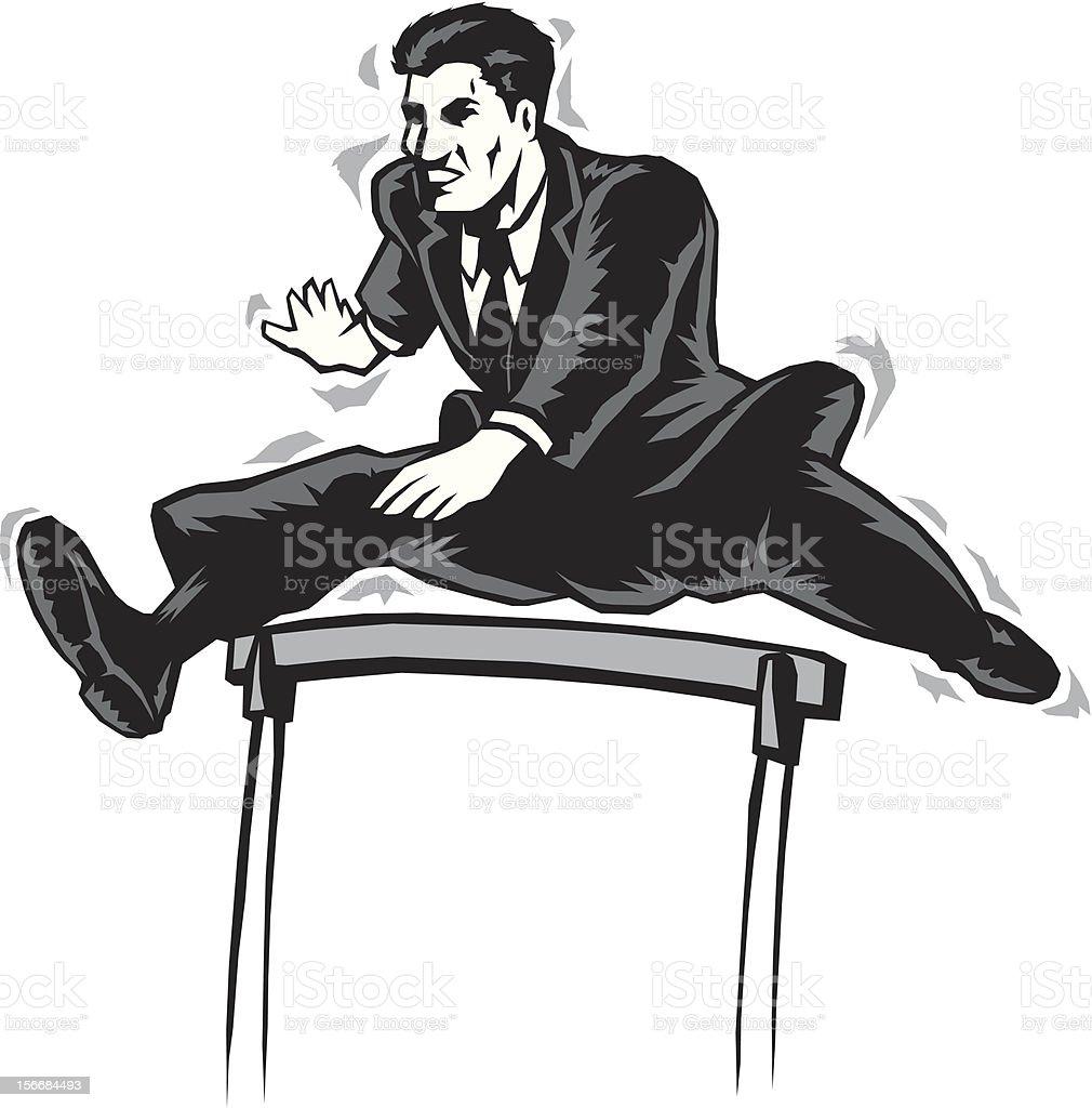 Jumping businessman royalty-free stock vector art