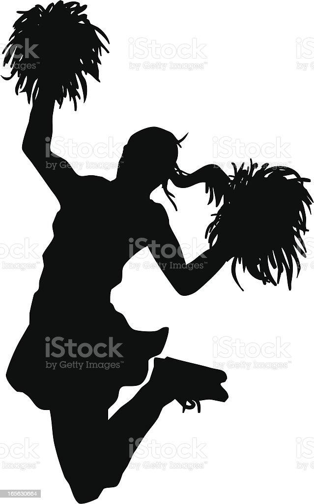 Jumping Cheerleader royalty-free stock vector art