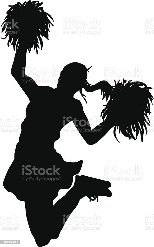 Jumping Cheerleader vector art illustration