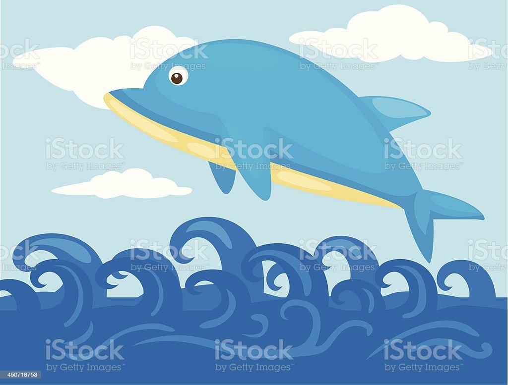 jumping dolphin royalty-free stock vector art