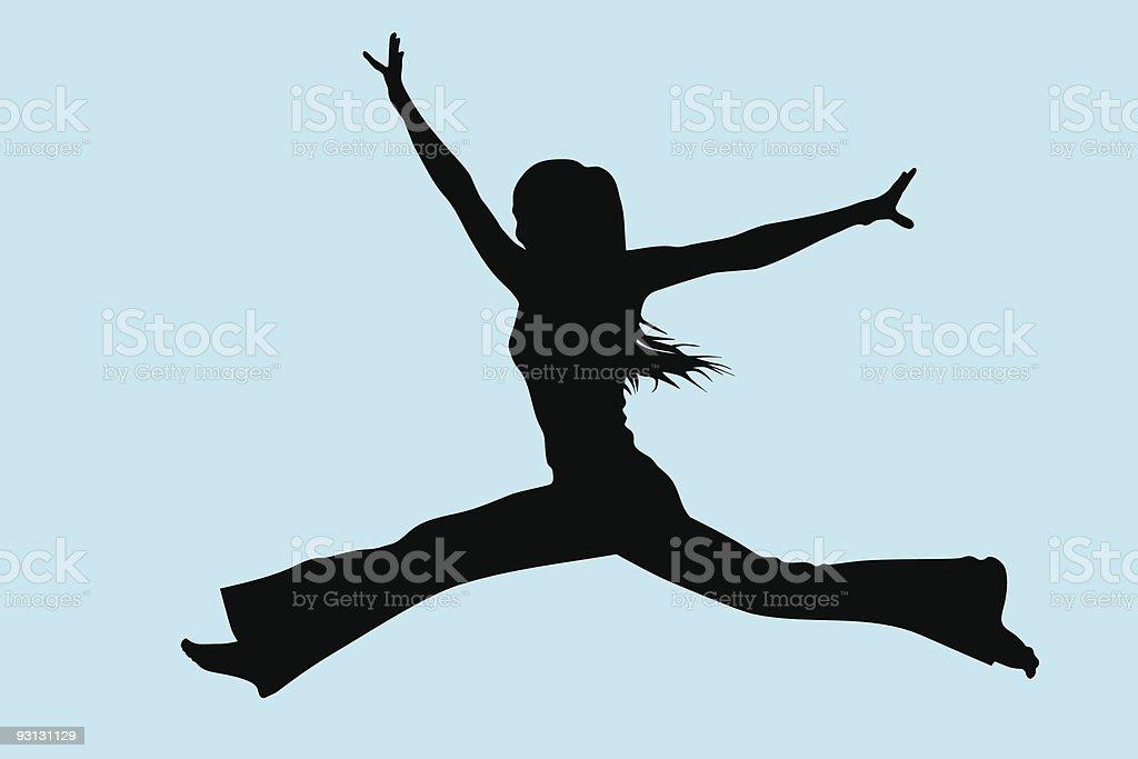 jumping gir royalty-free stock vector art