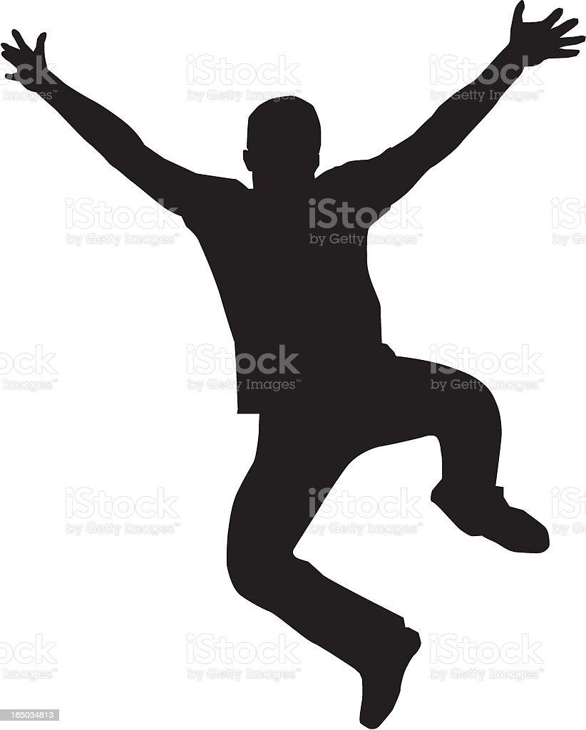 Jumping man royalty-free stock vector art
