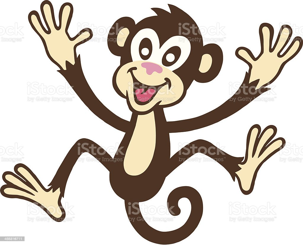 Jumping Monkey royalty-free stock vector art