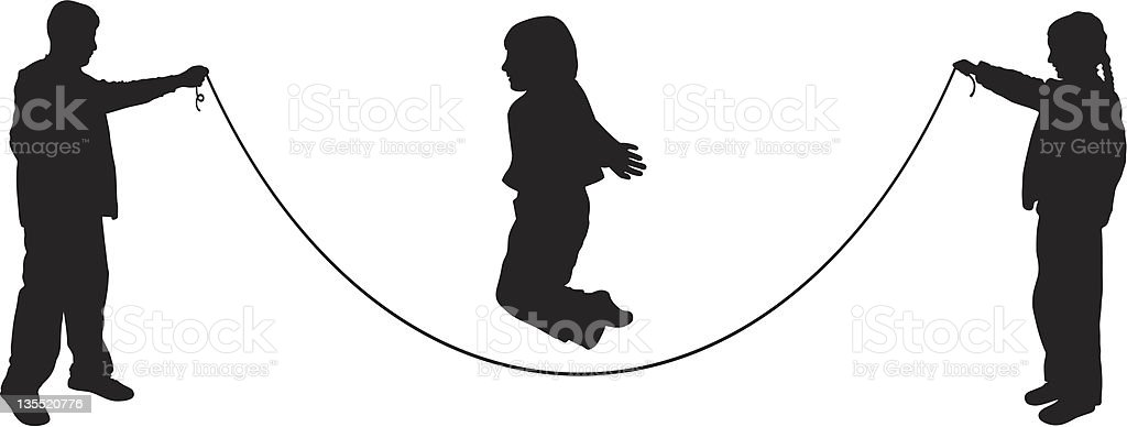 Jumping Rope royalty-free stock vector art