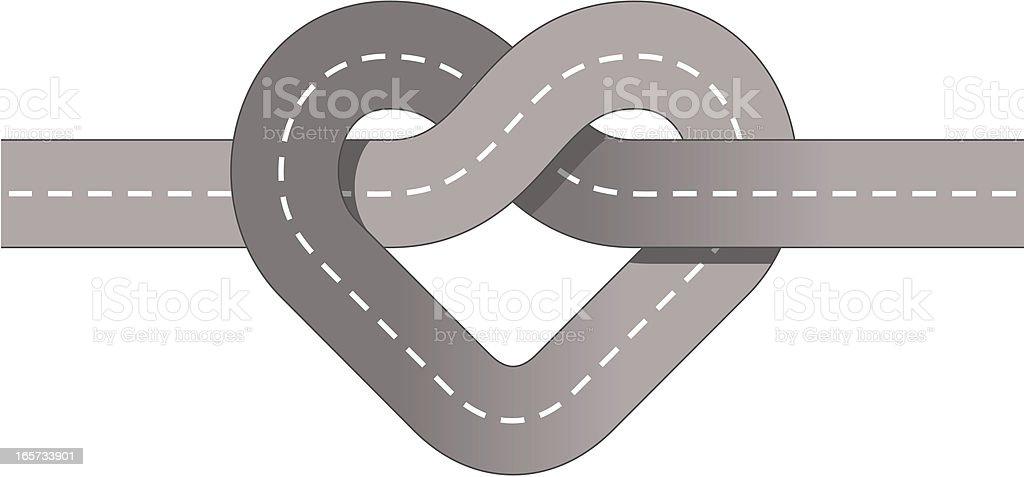 Junction, street heart knot royalty-free stock vector art
