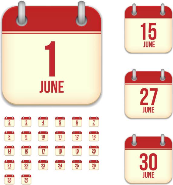 Calendar June Clipart : June clip art vector images illustrations istock