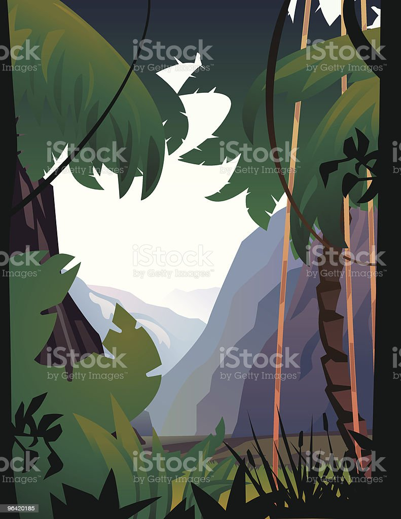 Jungle and Mountains. royalty-free stock vector art