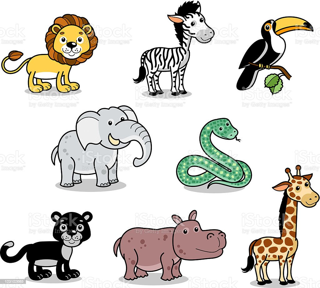 Jungle animals royalty-free stock vector art