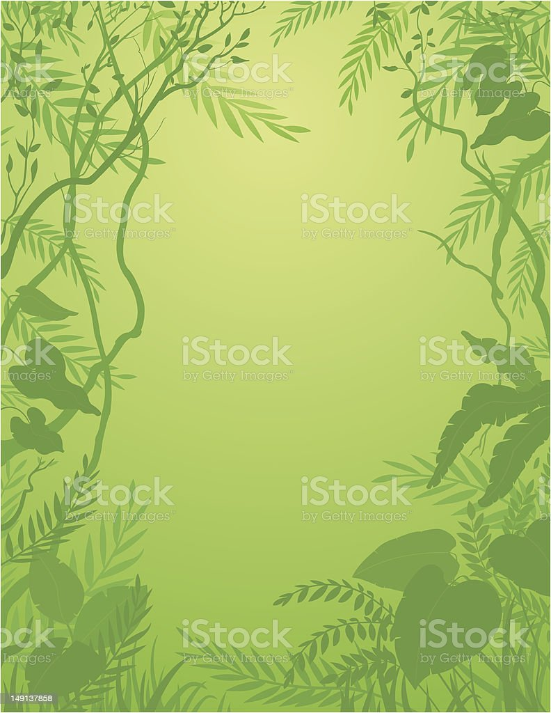 Jungle background / Forêt tropicale vector art illustration