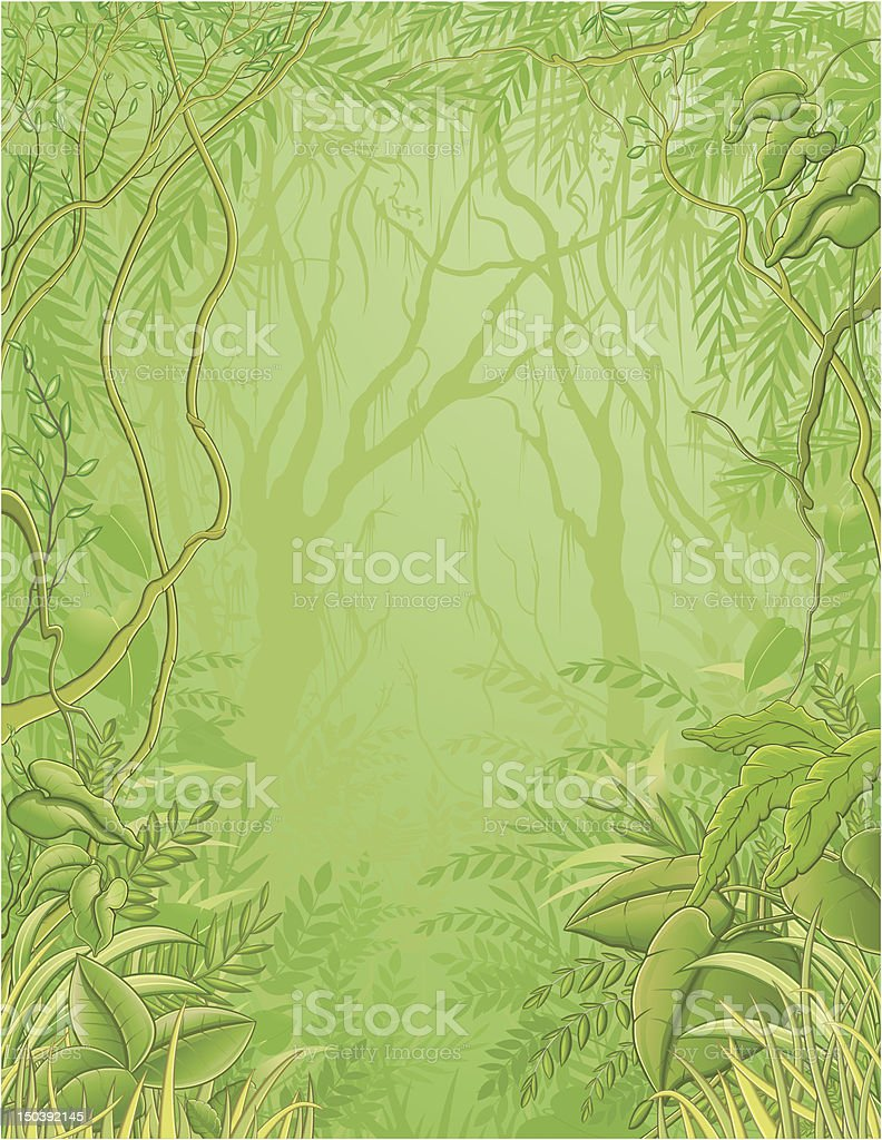 Jungle background / Forêt tropicale royalty-free stock vector art