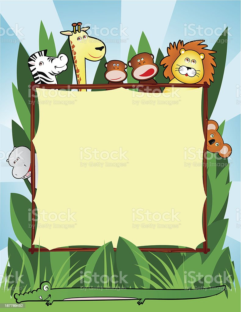 Jungle background royalty-free stock vector art