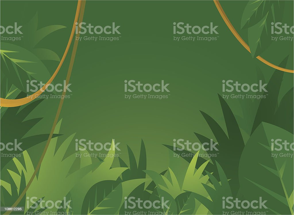 Jungle background with copyspace vector art illustration