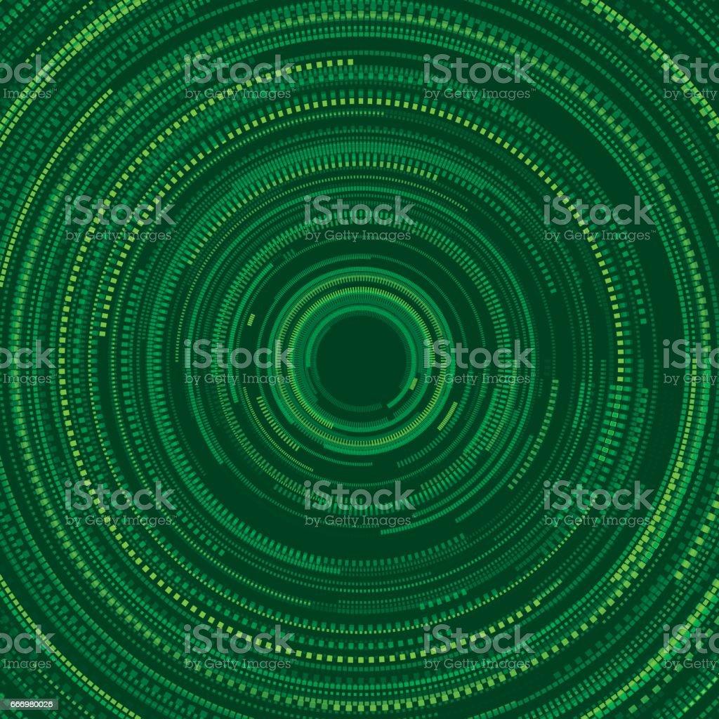 Jungle Circular Dotted Lines Vector Pattern vector art illustration