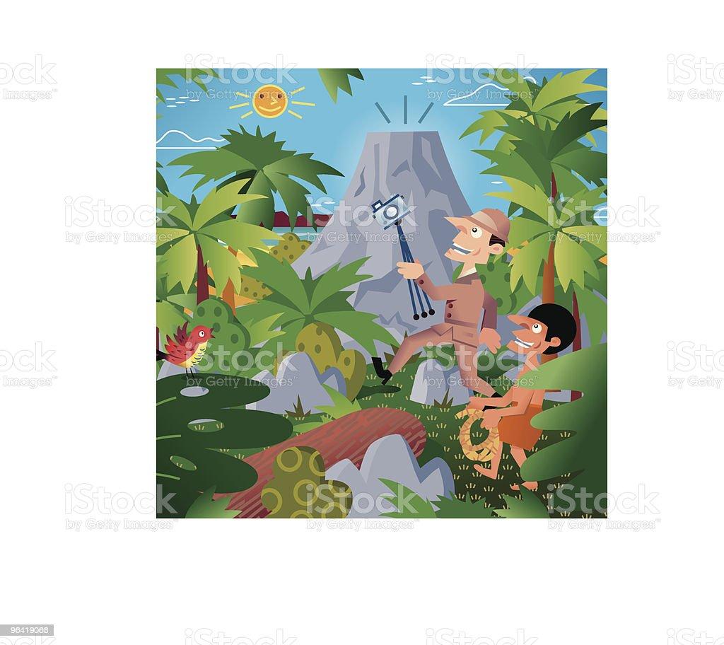 Jungle Explorer royalty-free stock vector art
