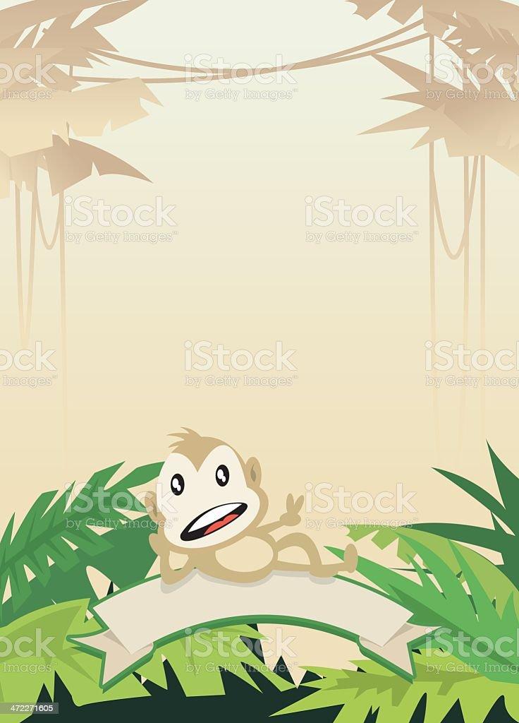 Jungle Frame royalty-free stock vector art
