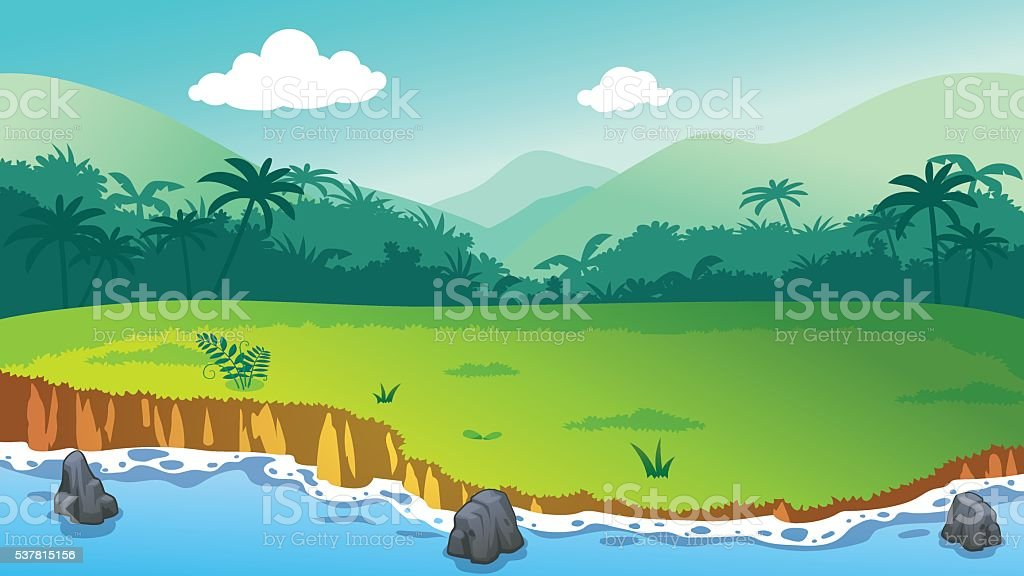 Jungle island royalty-free stock vector art