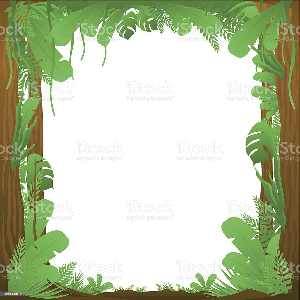 Jungle Surround Background royalty-free stock vector art