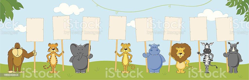 Jungle Talk - incl. jpeg vector art illustration