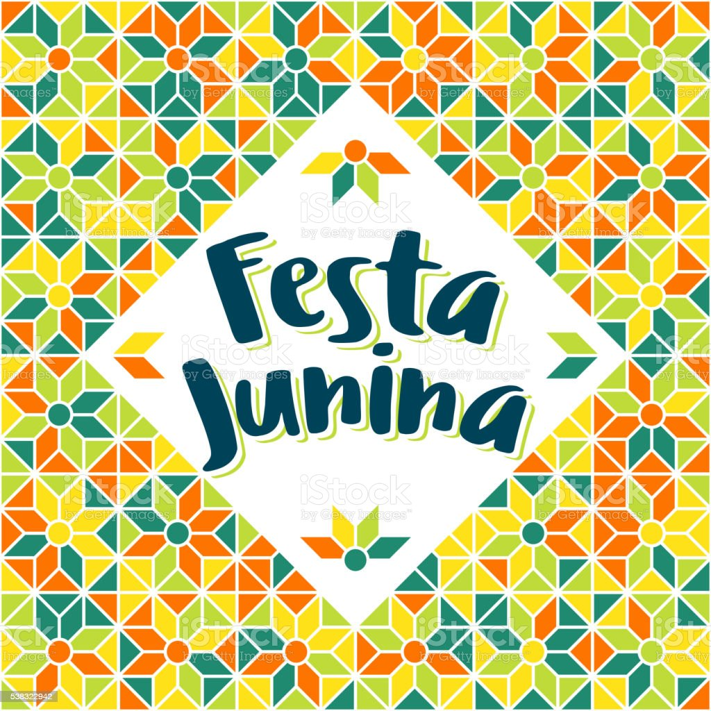 Festa Junina - Brazil Midsummer june fest vector art illustration