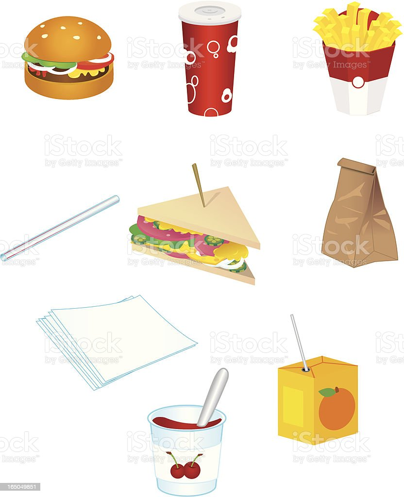 junk food icones royalty-free stock vector art