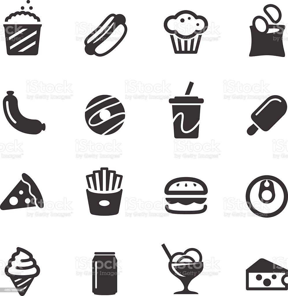 Junk Food Icons - Acme Series vector art illustration