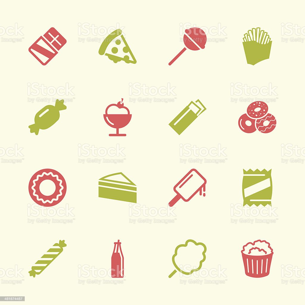 Junk Food Icons - Color Series   EPS10 vector art illustration